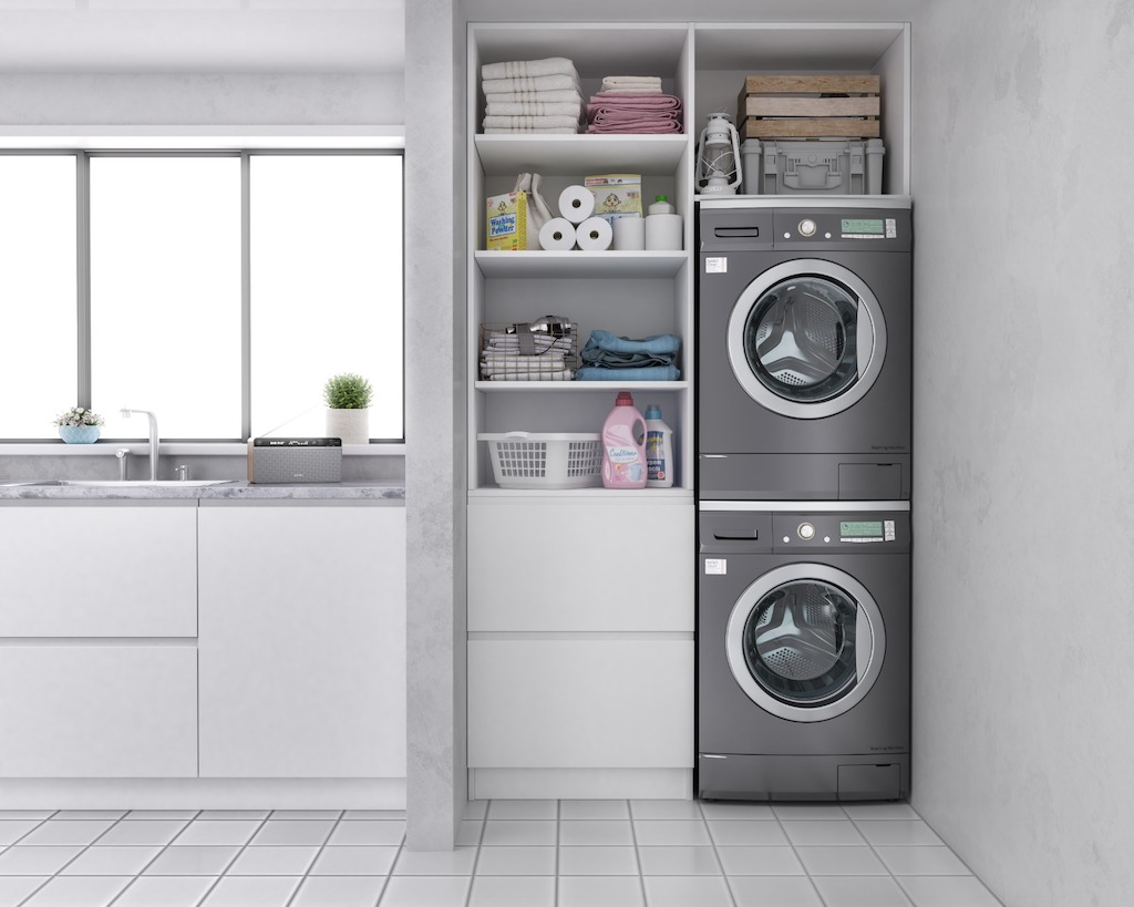 Come nascondere la lavanderia con Separè Zanzarissima