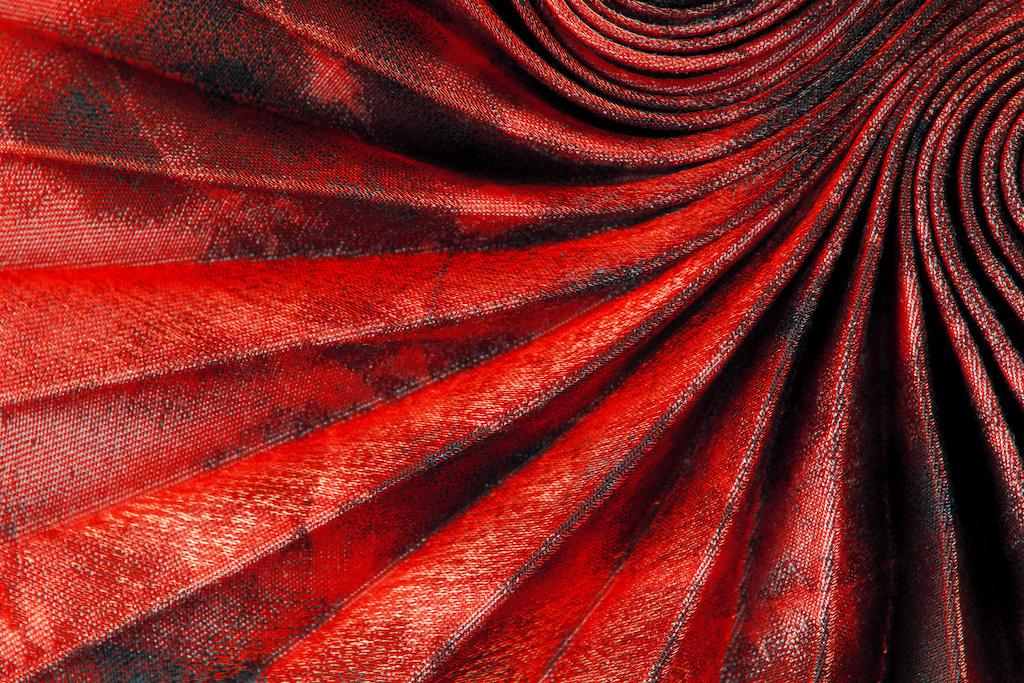 Tessuto rosso separè Zanzarissima
